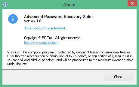 Advanced Password Recovery Suite скачать с ключом