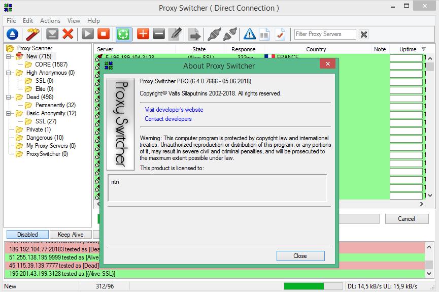 Proxy Switcher Pro 6.4.0.7666 русская версия