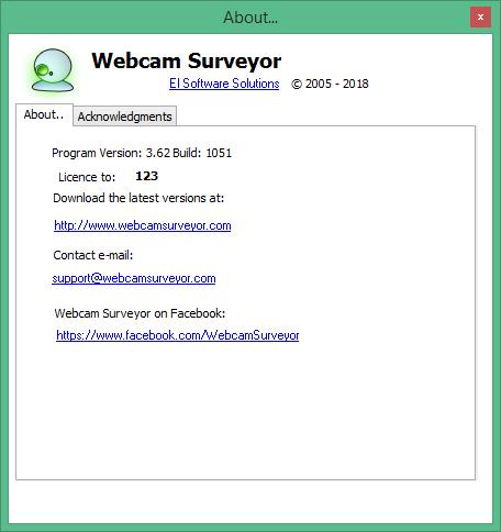 Webcam Surveyor скачать с ключом